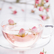 Tea with rose petals in a glass Cup. Rose water.Concept Holiday Valentine Day. - PhotoDune Item for Sale