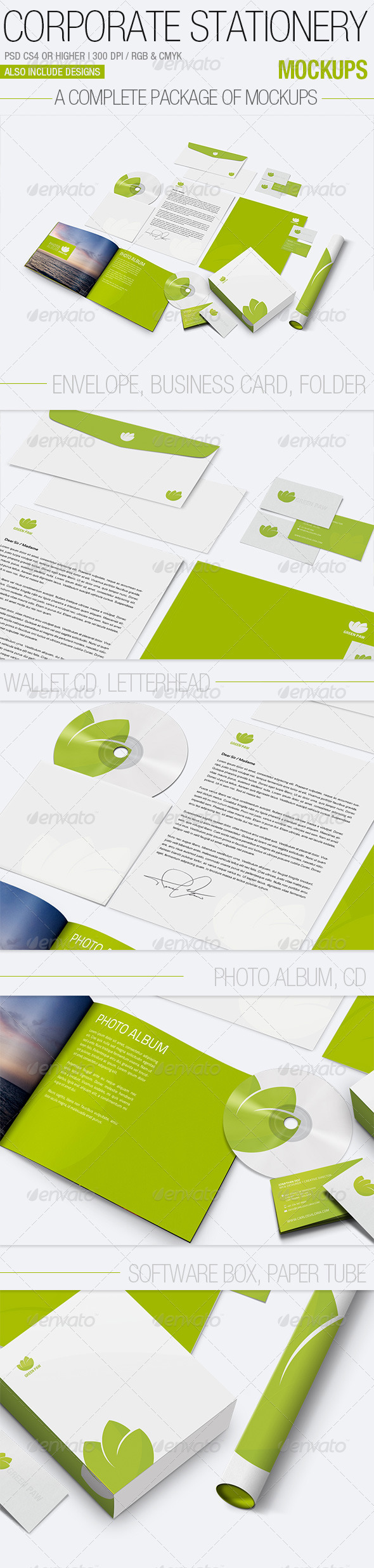 Corporate Stationery Mockups - Stationery Print