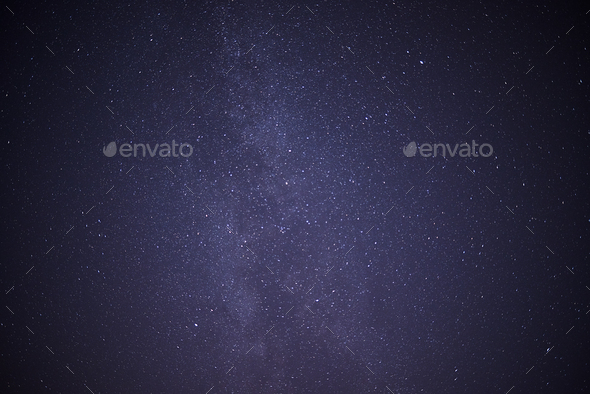 Night Sky with stars and the milky way - Stock Photo - Images
