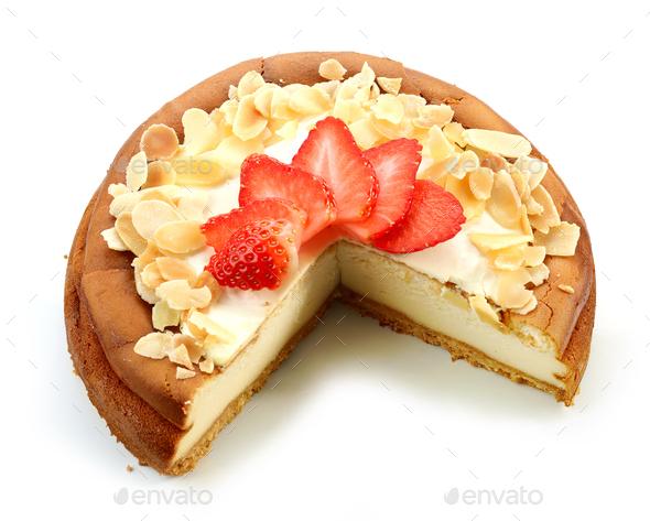 freshly baked cheesecake - Stock Photo - Images