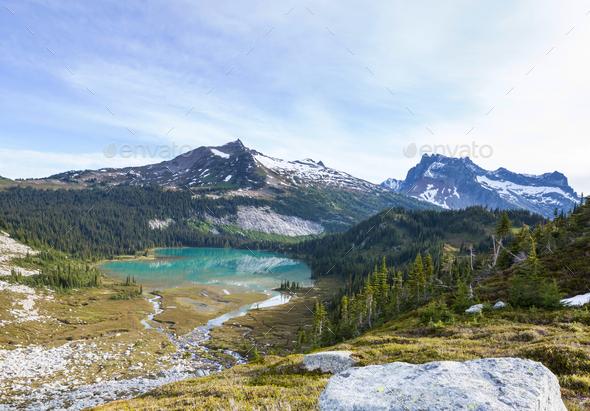 Mountains lake - Stock Photo - Images