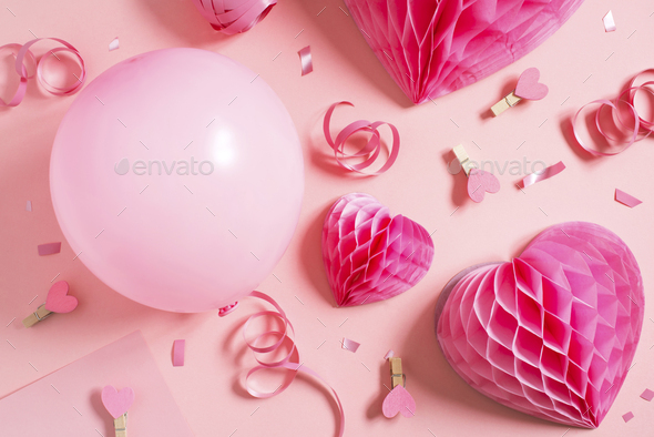 Pink Valentines Day Pattern - Stock Photo - Images