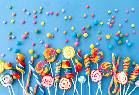 Colorful sweets and lollipops - Stock Photo - Images