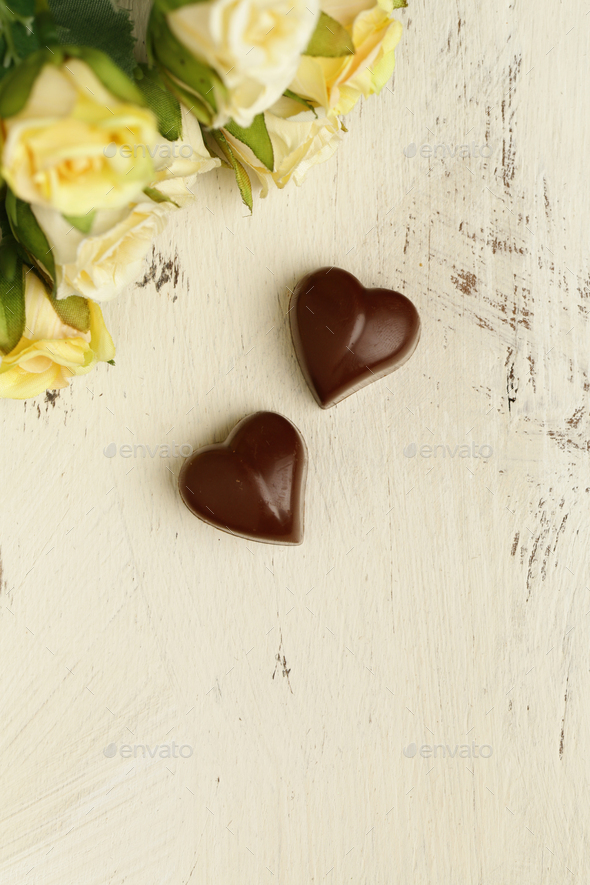 Candy Hearts for Valentines Day - Stock Photo - Images