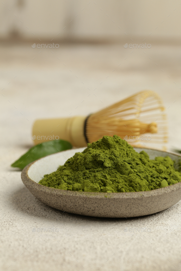 Green Matcha Tea Powder - Stock Photo - Images