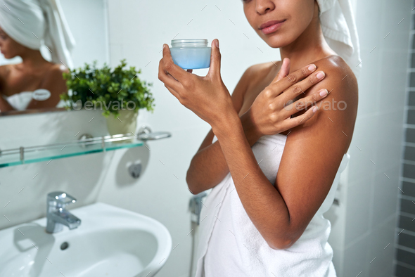 Moisturizing skin - Stock Photo - Images