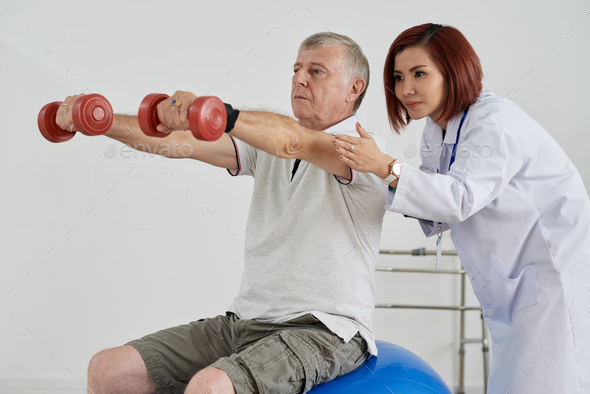 Working out patient - Stock Photo - Images