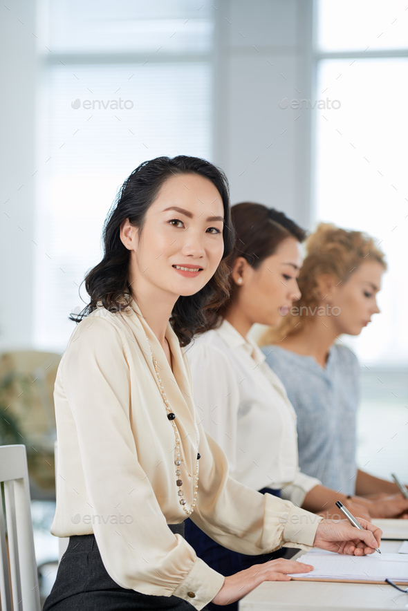 Attending business conference - Stock Photo - Images