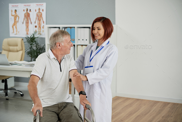 Supporting patient - Stock Photo - Images