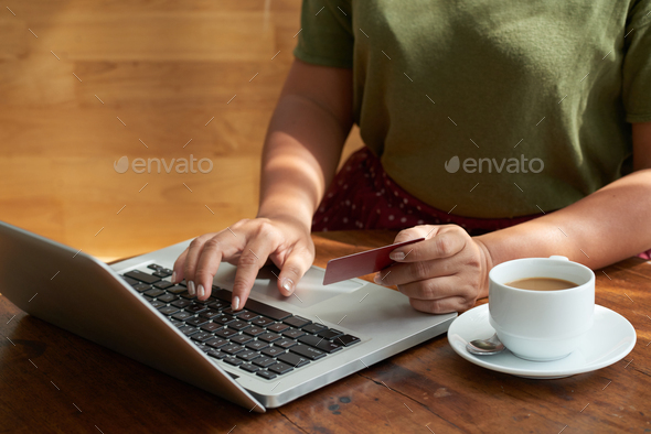 Paying for Online Order - Stock Photo - Images