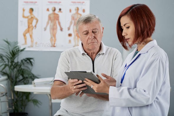Explaining medical tests results - Stock Photo - Images