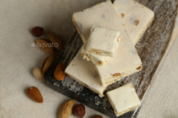Traditional Nougat with Nuts - Stock Photo - Images