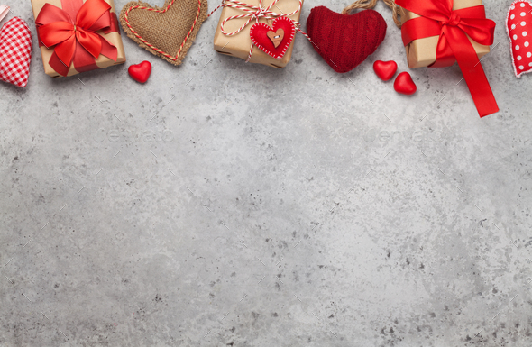 Valentines day gift boxes - Stock Photo - Images