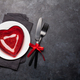 Valentines day or romantic dinner table setting - PhotoDune Item for Sale