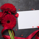 Valentines day card with gerbera flowers - PhotoDune Item for Sale