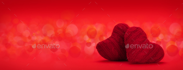 Valentines day heart decor backdrop - Stock Photo - Images