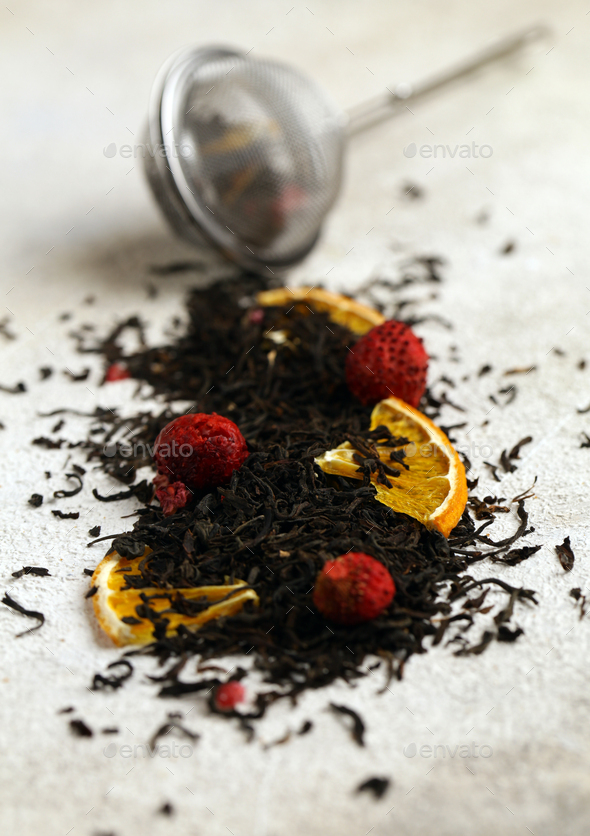 Back Tea with Berries - Stock Photo - Images