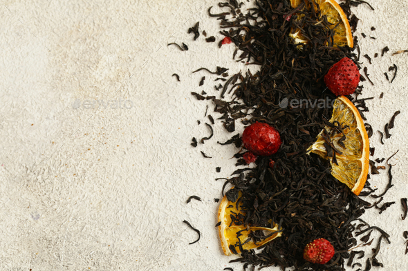 Black Tea with Berries - Stock Photo - Images