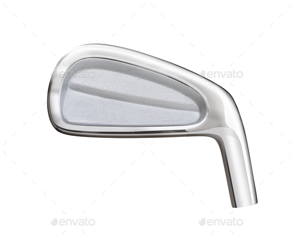 Blank Golf Club Iron Head Back Isolated on a White Background - Stock Photo - Images