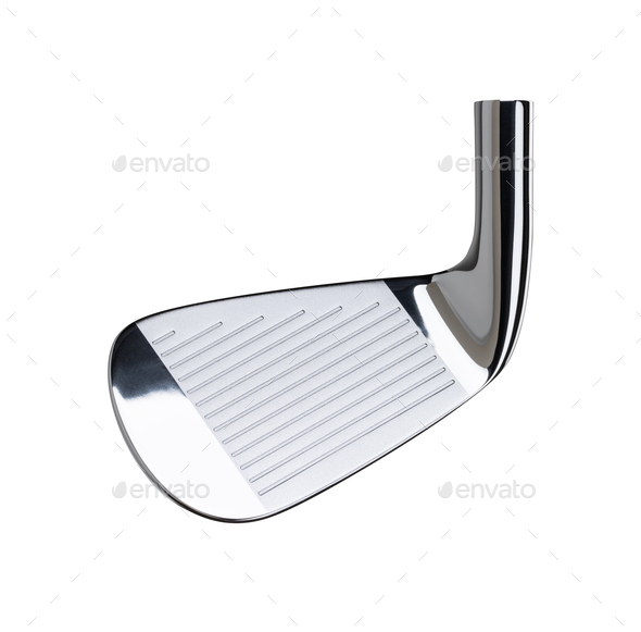 Face of Golf Club Iron Head Isolated on a White Background - Stock Photo - Images
