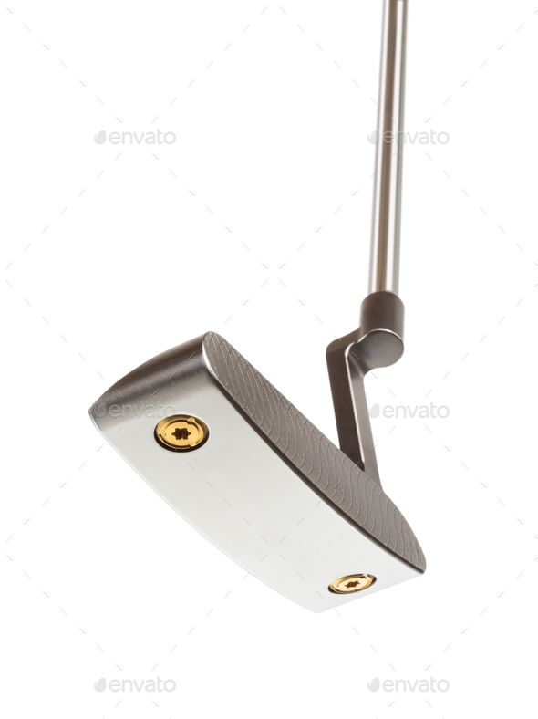 Bottom of Golf Club Putter Isolated on a White Background - Stock Photo - Images