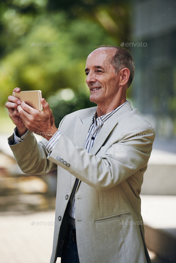 Senior blogger - Stock Photo - Images