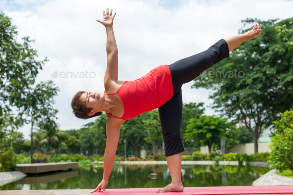 Improving balancing skills - Stock Photo - Images