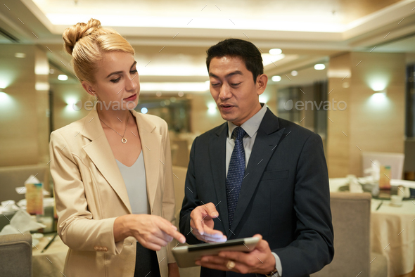 Reading e-mail together - Stock Photo - Images