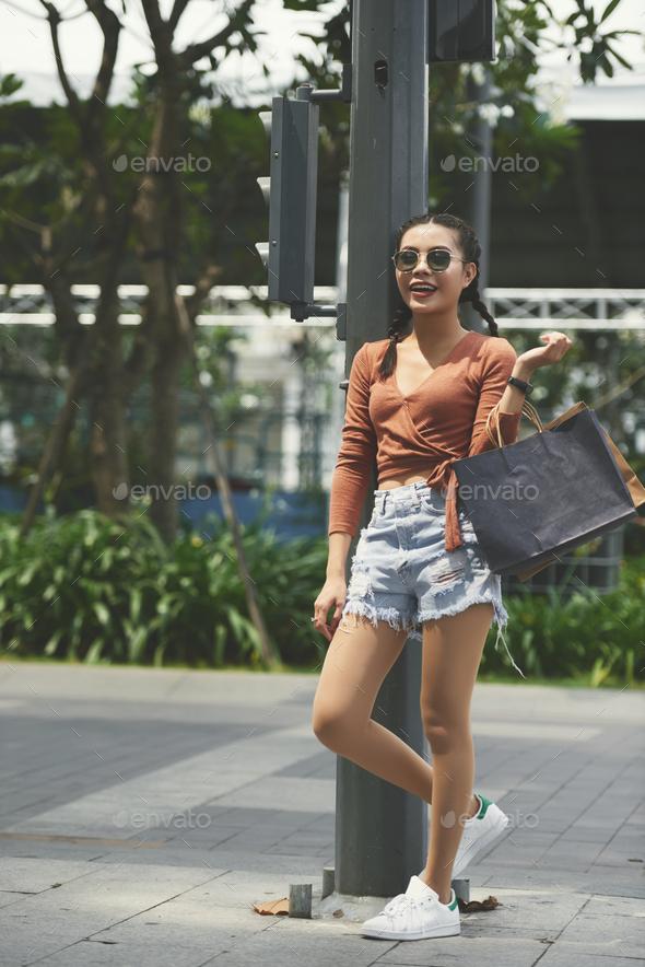 Shopping girl - Stock Photo - Images