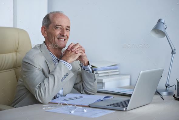 Joyful businessman - Stock Photo - Images