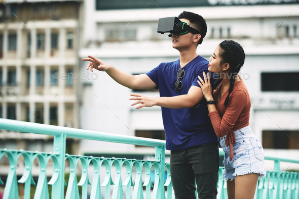 Couple with VR glasses - Stock Photo - Images