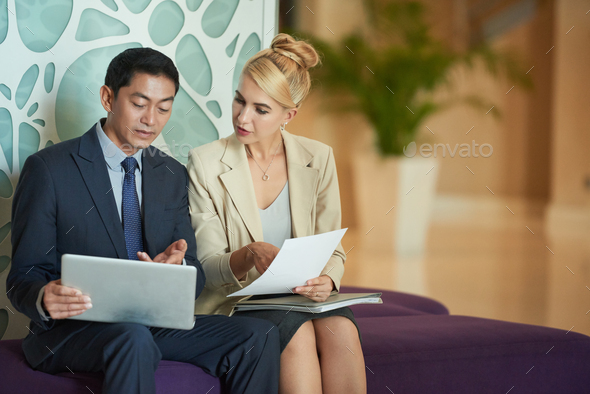 Talking coworkers - Stock Photo - Images