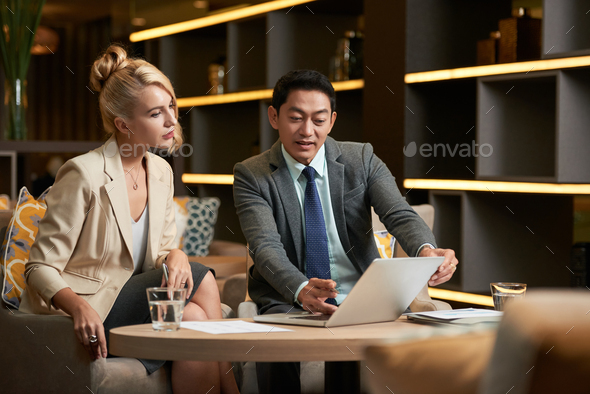 Watching business presentation - Stock Photo - Images