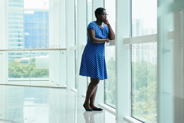 Contemplating woman - Stock Photo - Images