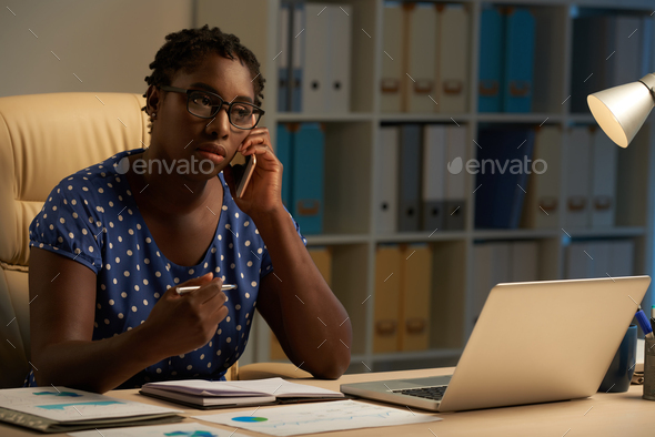 Calling to client - Stock Photo - Images