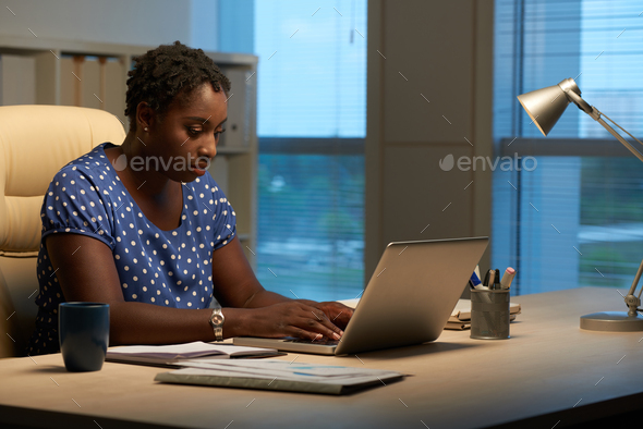 Answering e-mails - Stock Photo - Images