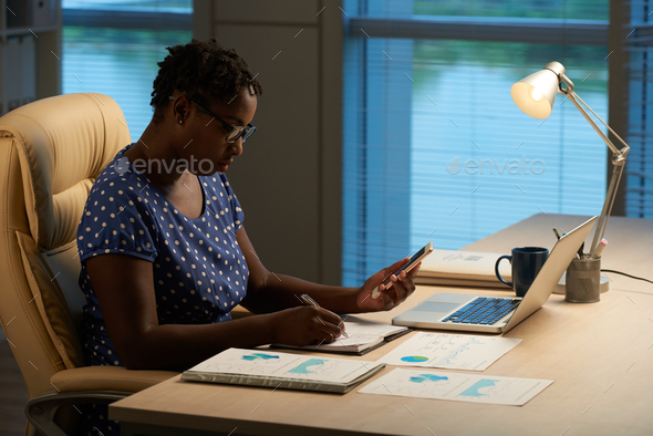 Writing new ideas - Stock Photo - Images