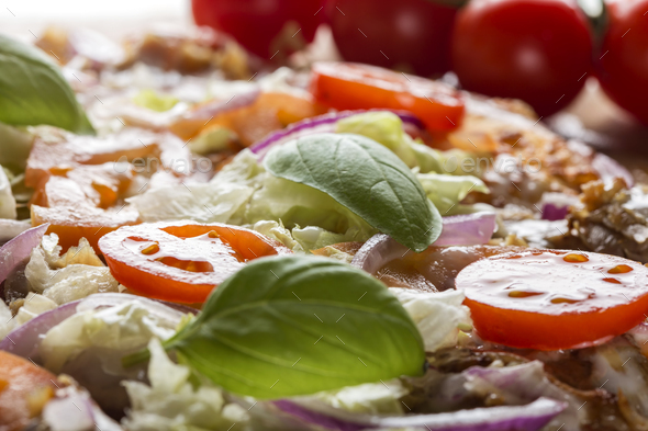 kebap pizza - Stock Photo - Images