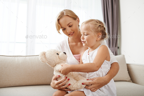 Playing with daughter - Stock Photo - Images