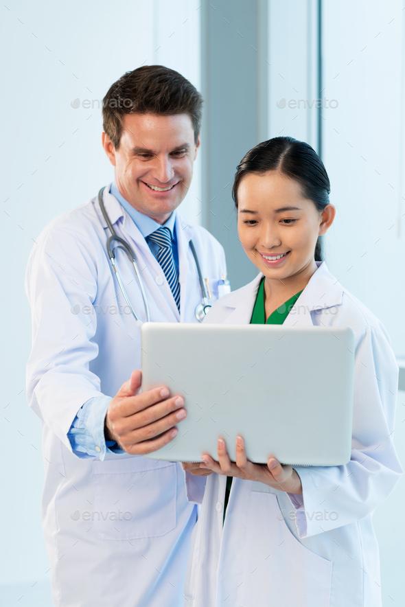Analyzing medical data - Stock Photo - Images