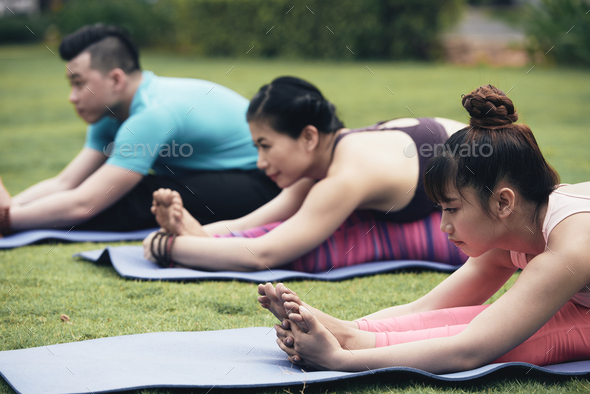 Stretching people - Stock Photo - Images