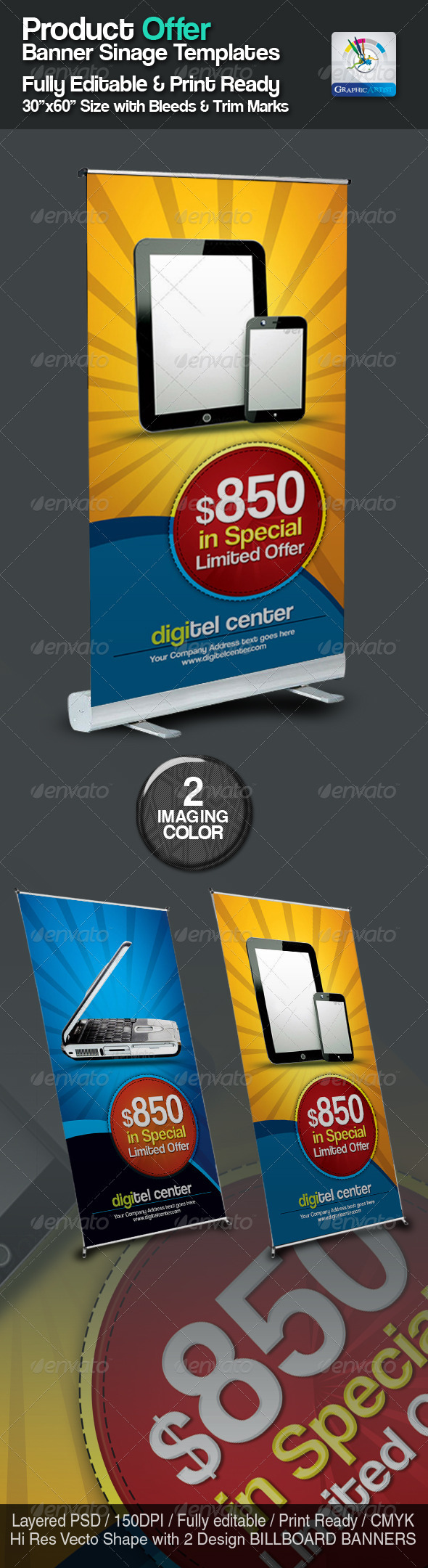 Product Offer Banner Sinage Templates - Signage Print Templates
