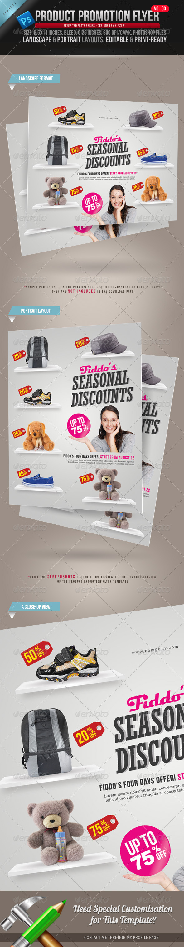 Product Promotion Flyer Vol. 03 - Commerce Flyers