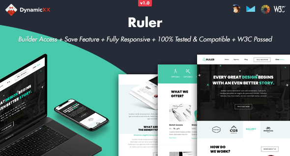Ruler - Responsive Email + Online Template Builder by DynamicXX