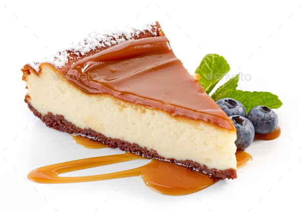 piece of cheesecake - Stock Photo - Images