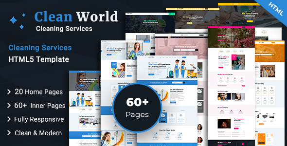 Clean World HTML5 Template