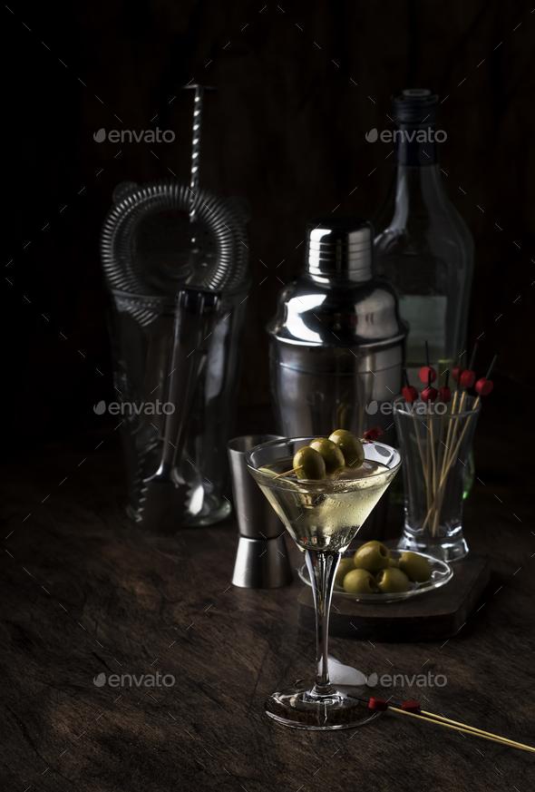 Classic Martini vodka cocktail - Stock Photo - Images
