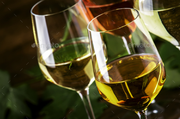 White wine set - Stock Photo - Images