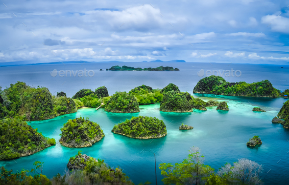 Pianemo Islands, Raja Ampat, West Papua, Indonesia - Stock Photo - Images