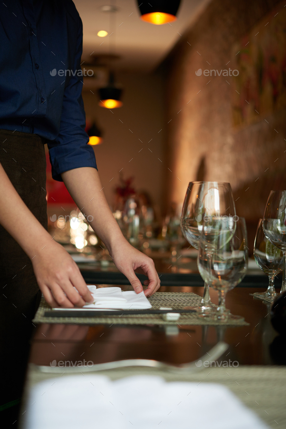 Preparing table - Stock Photo - Images
